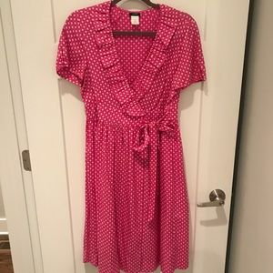 J Crew short sleeve ruffle dress